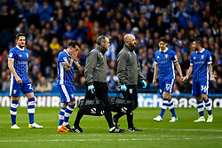 Ross Wallace of Sheffield Wednesday looks dejected as he leaves the field during the early stages with an injury  - Mandatory by-line: Matt McNulty/JMP - 17/05/2017 - FOOTBALL - Hillsborough - Sheffield, England - Sheffield Wednesday v Huddersfield Town - Sky Bet Championship Play-off Semi-Final 2nd Leg