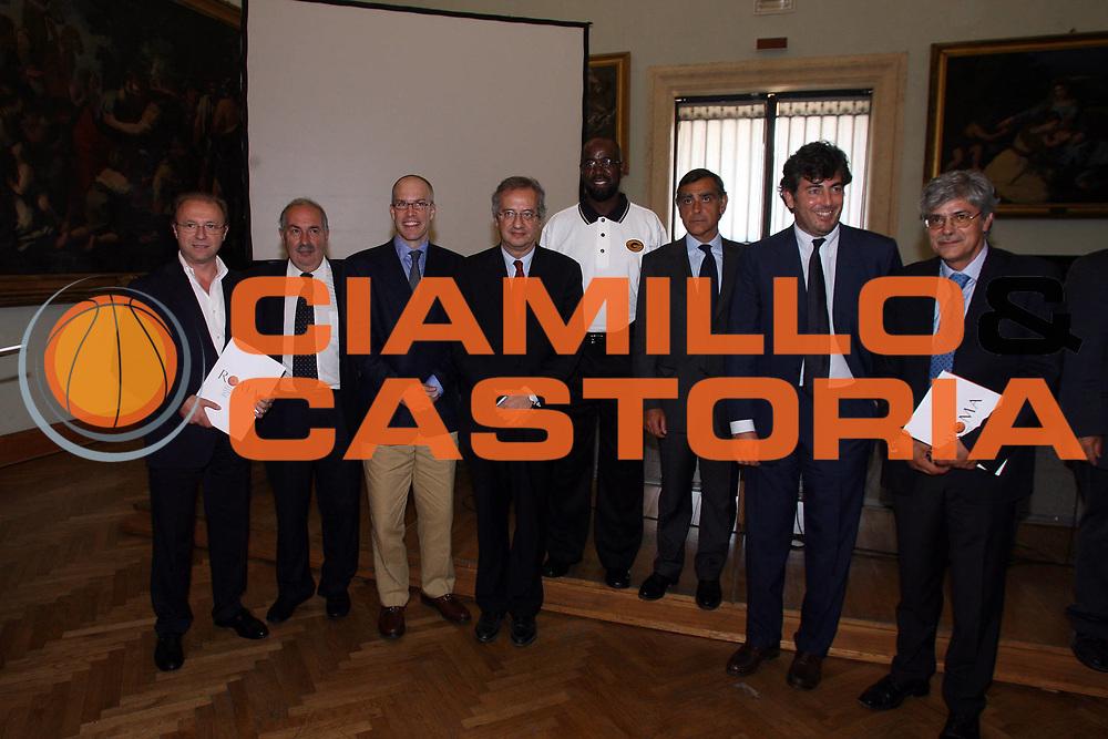 DESCRIZIONE : Roma Rome Campidoglio Nba Europe Live Tour Conferenza stampa di presentazione<br /> GIOCATORE : Mambrini Vanghetti Toti  Maifredi Veltroni Messick Wright Arceri<br /> SQUADRA : Lottomatica Virtus Roma Nba Europe Live Tour<br /> EVENTO : Roma Rome Campidoglio Nba Europe Live Tour Conferenza stampa di presentazione<br /> GARA : <br /> DATA : 07/07/2006 <br /> CATEGORIA : <br /> SPORT : Pallacanestro <br /> AUTORE : Agenzia Ciamillo-Castoria/E.Castoria