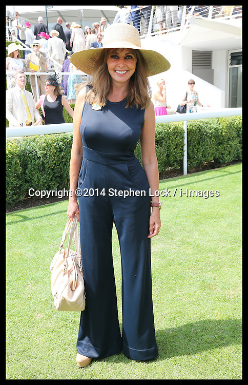 Image licensed to i-Images Picture Agency. 31/07/2014. Goodwood. United Kingdom. Carol Vordeman at Ladies Day at Glorious Goodwood.  Picture by Stephen Lock / i-Images