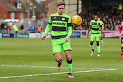 Forest Green Rovers Dayle Grubb(8) on the ball during the EFL Sky Bet League 2 match between Lincoln City and Forest Green Rovers at Sincil Bank, Lincoln, United Kingdom on 3 November 2018.