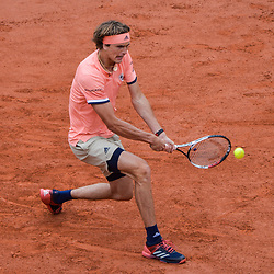 Alexsander Zverev of Geramany during Day 6 of the French Open 2018 on June 1, 2018 in Paris, France. (Photo by Baptiste Fernandez/Icon Sport)