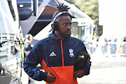 Birmingham City midfielder Jacques Maghoma (19) wearing beats headphones arrives at the KCOM stadium before the EFL Sky Bet Championship match between Hull City and Birmingham City at the KCOM Stadium, Kingston upon Hull, England on 30 September 2017. Photo by Ian Lyall.