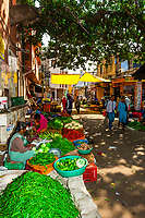 Vegetable market, Jaipur, Rajasthan, India.