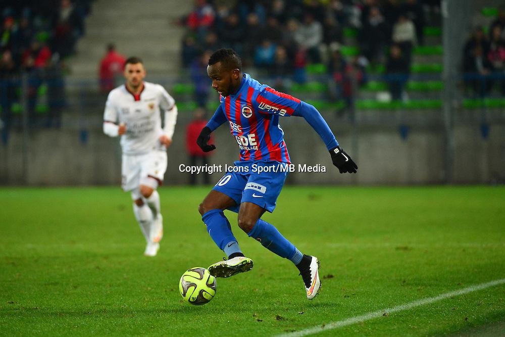 Lenny NANGIS - 06.12.2014 - Caen / Nice - 17eme journee de Ligue 1 -<br />Photo : Dave Winter / Icon Sport