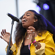 WASHINGTON, DC - August 23rd, 2014 - Singer-songwriter SZA performs at the 3rd annual Trillectro Music Festival at RFK Stadium in Washington, D.C. (Photo by Kyle Gustafson / For The Washington Post)