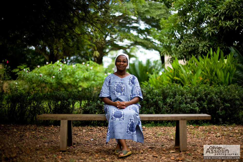 Sister Felicité Akossi Kousso poses for a portrait at the NDA health center in Dimbokro, Cote d'Ivoire on Friday June 19, 2009.