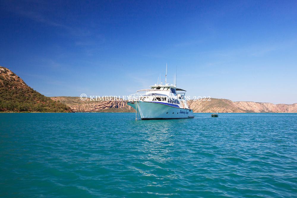 SPV Kimberley Escape in Dugong Bay in the Kimberley coast's Buccaneer Archipelago.