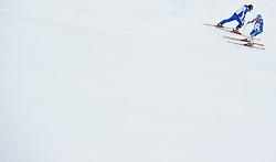 21.01.2011, Hahnenkamm, Kitzbuehel, AUT, FIS World Cup Ski Alpin, Men, Super G, im Bild // ein Feature mit zwei italienischen Rennläufern, Christof Innerhofer (ITA) // during the men super g race at the FIS Alpine skiing World cup in Kitzbuehel, EXPA Pictures © 2011, PhotoCredit: EXPA/ S. Zangrando