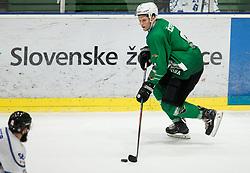 Kristjan Cepon of SZ Olimpija during ice hockey match between HK SZ Olimpija and WSV Sterzing Broncos Weihenstephan (ITA) in Round #12 of AHL - Alps Hockey League 2018/19, on October 30, 2018, in Hala Tivoli, Ljubljana, Slovenia. Photo by Vid Ponikvar / Sportida