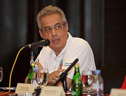 KUALA LUMPUR, MALAYSIA - Wednesday, July 22, 2015: CEO of Standard Chartered Bank Malaysia Mahendra Gursahani during a press conference at the Saujana Hotel on day ten of the club's preseason tour. (Pic by David Rawcliffe/Propaganda)