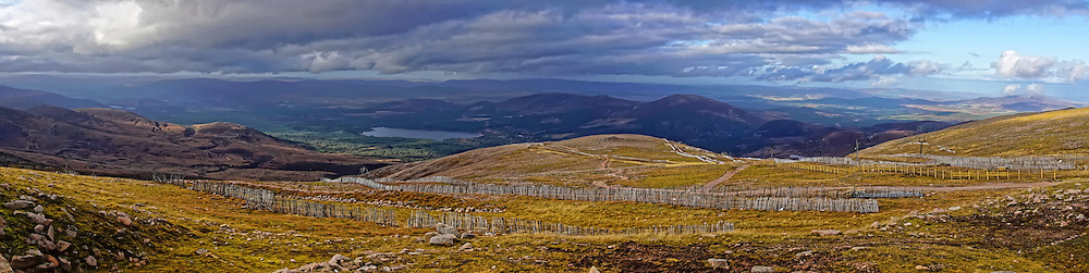 Scottish Cairngorms from Cairn Gorm Mountain.