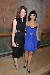 Left to right, actress JODIE WHITTAKER and actress ANNABEL SCHOLEY at the Women for Women International UK Gala held at the Guildhall, City of London on 3rd May 2012.