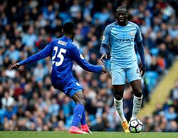 Yaya Toure of Manchester City takes on Wilfred Ndidi of Leicester City - Mandatory by-line: Matt McNulty/JMP - 13/05/2017 - FOOTBALL - Etihad Stadium - Manchester, England - Manchester City v Leicester City - Premier League