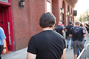 Audience waiting to enter The Tabernacle concert venue in Atlanta, Georgia USA on June 20, 2017 for a performance of the Swedish Grammy winning heavy metal band Ghost Audience waiting to enter The Tabernacle concert venue in Atlanta, Georgia USA on June 20, 2017 for a performance of the Swedish Grammy winning heavy metal band Ghost