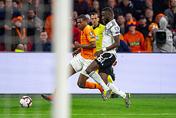 24-03-2019 NED: UEFA Euro 2020 qualification Netherlands - Germany, Amsterdam<br /> Netherlands lost the match 3-2 in the last minute / Denzel Dumfries #22 of The Netherlands, Antonio Rudiger #16 of Germany