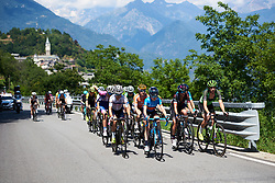 Leaders in the final phase of the climb at Giro Rosa 2018 - Stage 6, a 114.1 km road race from Sovico to Gerola Alta, Italy on July 11, 2018. Photo by Sean Robinson/velofocus.com