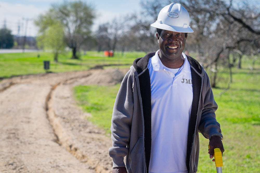 Jarvis Moore, operations director for JMI, is seen Friday, March 6, 2015 at a work site in San Antonio. Photo/Bahram Mark Sobhani