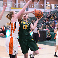 5th year forward Ainsley MacIntyre (10) of the Regina Cougars during the 5th year night on February  11 at Centre for Kinesiology, Health and Sport. Credit: Arthur Ward/Arthur Images
