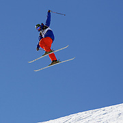 Christopher Laker, USA, crashes during the Freeski Slopestyle Men's Final at Snow Park, New Zealand during the Winter Games. Wanaka, New Zealand, 18th August 2011. Photo Tim Clayton