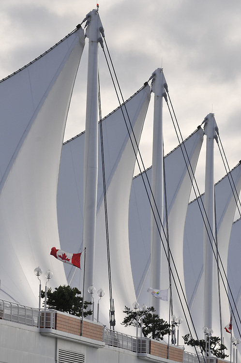 The Sails at Canada Place, Cruise Ship Terminal,  Designed by Eberhard Zeidler, Vancouver, British Columbia , Canada