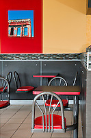 The Sampan Express Chinese Food restaurant features bright functional design by NZ Builders.