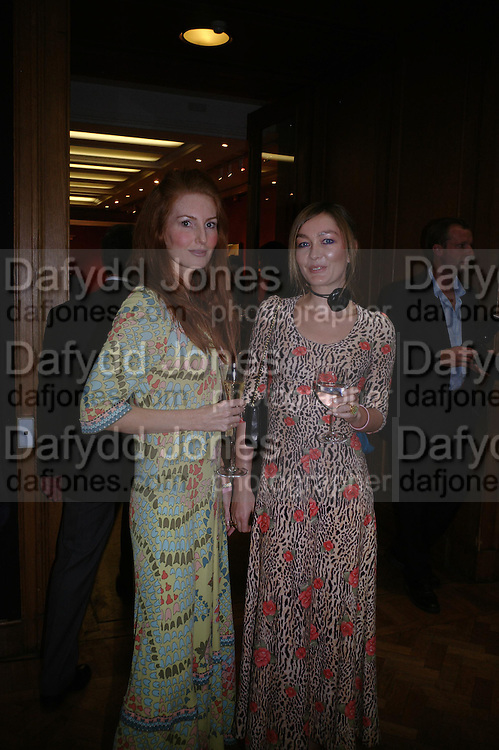 Angella Radcliffe and Fiona Knapp. 4 Inches, A  Photographic Auction in aid of the Elton John Aids Foundation hosted by Tamara Mellon and Arnaud Bamberger. Christie's. 8 King St. London. 25 May 2005. ONE TIME USE ONLY - DO NOT ARCHIVE  © Copyright Photograph by Dafydd Jones 66 Stockwell Park Rd. London SW9 0DA Tel 020 7733 0108 www.dafjones.com