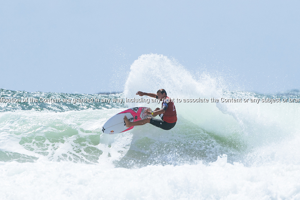 Julian Wilson of Australia won Heat 8 of Round 3 at the Quiksilver Pro, Gold Coast, 2018. . FOR EDITORIAL NEWS USE ONLY