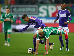 04.02.2018, Allianz Stadion, Wien, AUT, 1. FBL, SK Rapid Wien vs FK Austria Wien, 21. Runde, im Bild v.l. Michael Blauensteiner (FK Austria Wien), Joelinton Cassio Apolinaro De Lira (SK Rapid Wien) und Felipe Augusto Rodrigues Pires (FK Austria Wien) // during the Austrian Football Bundesliga 21st Round match between SK Rapid Wien and FK Austria Wien at the Allianz Stadion in Wien, Austria on 2018/02/04. EXPA Pictures © 2018, PhotoCredit: EXPA/ Thomas Haumer