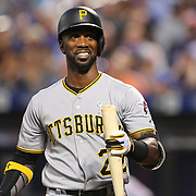 NEW YORK, NEW YORK - June 14:  Andrew McCutchen #22 of the Pittsburgh Pirates batting during the Pittsburgh Pirates Vs New York Mets regular season MLB game at Citi Field on June 14, 2016 in New York City. (Photo by Tim Clayton/Corbis via Getty Images)