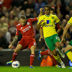 22.10.2011, Anfield Stadion, Liverpool, ENG, PL, FC Liverpool - Norwich City, im Bild Liverpool's Craig Bellamy scores the first goal against Norwich City during the Premiership match at Anfield // during the Premier League football match between FC Liverpool - Norwich City, at Anfield Stadium, Liverpool, United Kingdom on 22/10/2011. EXPA Pictures © 2011, PhotoCredit: EXPA/ Propaganda Photo/ David Rawcliff +++++ ATTENTION - OUT OF ENGLAND/GBR+++++