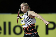 PRETORIA, SOUTH AFRICA, Friday 20 April 2012, Justine Robbeson in the women's javelin during the Yellow Pages Series 3 held at the Absa Tuks stadium..Photo by Roger Sedres/ImageSA/ASA