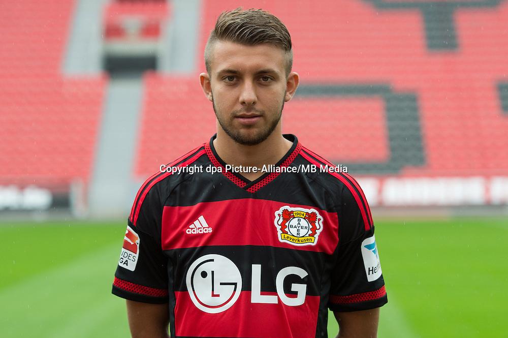 German Soccer Bundesliga 2015/16 - Photocall Bayer 04 Leverkusen on 13 July 2015 in Leverkusen, Germany: Vladlen Yurchenko.