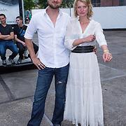NLD/Amsterdam/20130708- AFW 2013 zomer, modeshow Claes Iversen, Sebastian Labrie en partner Kim Vos