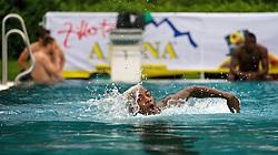 21.07.2014, Schwimmbad, Zell am Ziller, AUT, SV Werder Bremen Trainingslager, im Bild Eljero Elia (SV Werder Bremen #11) beim Schwimmen // during the Preparation Camp of the German Bundesliga Club SV Werder Bremen at the Schwimmbad in Zell am Ziller, Austria on 2014/07/21. EXPA Pictures © 2014, PhotoCredit: EXPA/ Andreas Gumz<br /> <br /> *****ATTENTION - OUT of GER*****