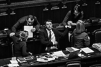 Matteo Renzi, 39, Italy's youngest-ever Prime Minister, is about to hold a speach to lawmakers before the Lower House approves a confidence vote on his new government in Rome, Italy, on February 25th 2014.