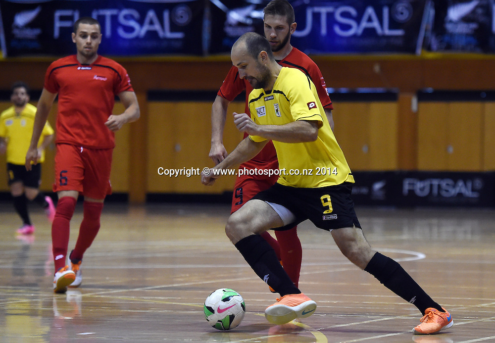 Capital's Miroslav Malivuk in action. Mainland v Capital. Final of the 2014 National Futsal League, Series 3. ASB Stadium, Auckland, New Zealand. Sunday 7 December 2014. Photo: Andrew Cornaga/photosport.co.nz