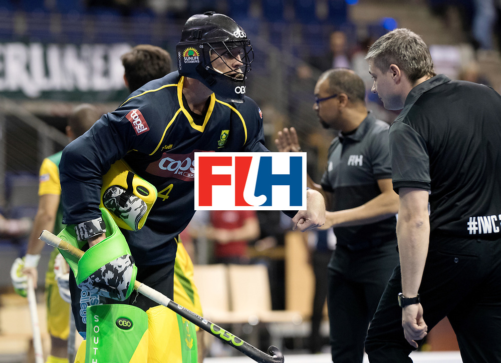 BERLIN - Indoor Hockey World Cup<br /> Men: Austria - South Africa<br /> foto: FAIRWEATHER Matthew.<br /> WORLDSPORTPICS COPYRIGHT FRANK UIJLENBROEK