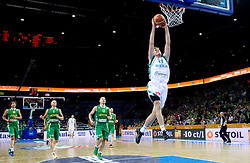 Zoran Dragic of Slovenia during basketball game between National basketball teams of Slovenia and Lithuania at of FIBA Europe Eurobasket Lithuania 2011, on September 15, 2011, in Arena Zalgirio, Kaunas, Lithuania.  (Photo by Vid Ponikvar / Sportida)