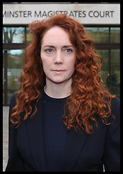 Rebekah Brooks  at Westminster Magistrates Court in London, , Thursday, 29th November 2012. .Photo by:  Stephen Lock /  i-Images