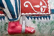Detail of statue at Hindu shrine. Dambetenna Estate, Dambetenna.
