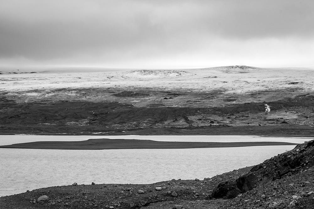 Iceland - Lake Hagavatna fed by glacier Langjokull