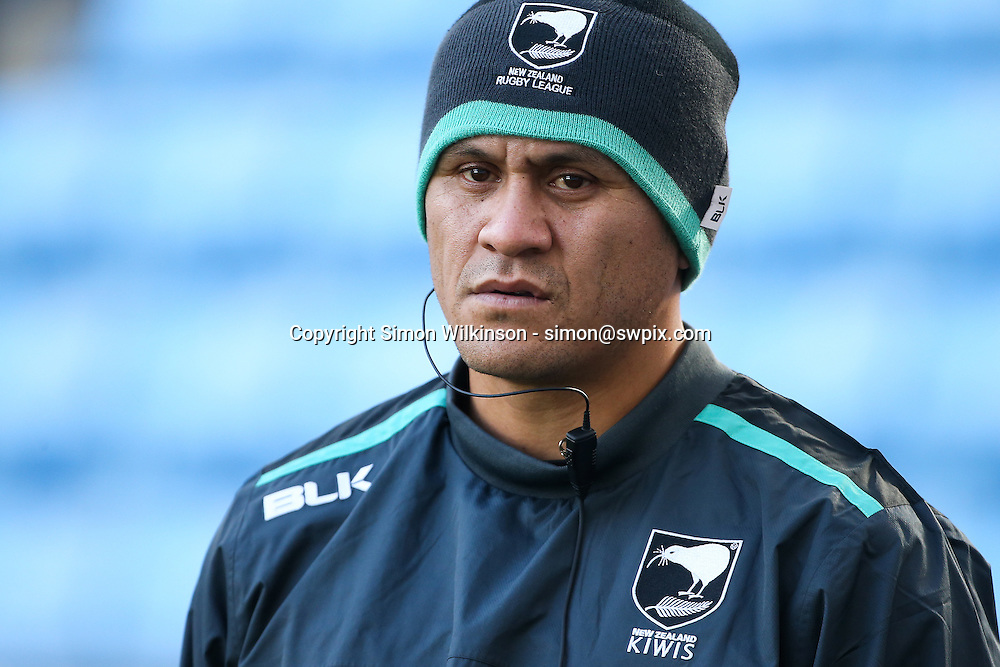 Picture by Alex Whitehead/SWpix.com - 04/11/16 - Rugby League - 2016 Ladbrokes Four Nations - New Zealand Kiwis Captain's Run - Ricoh Arena, Coventry, England - head coach David Kidwell.