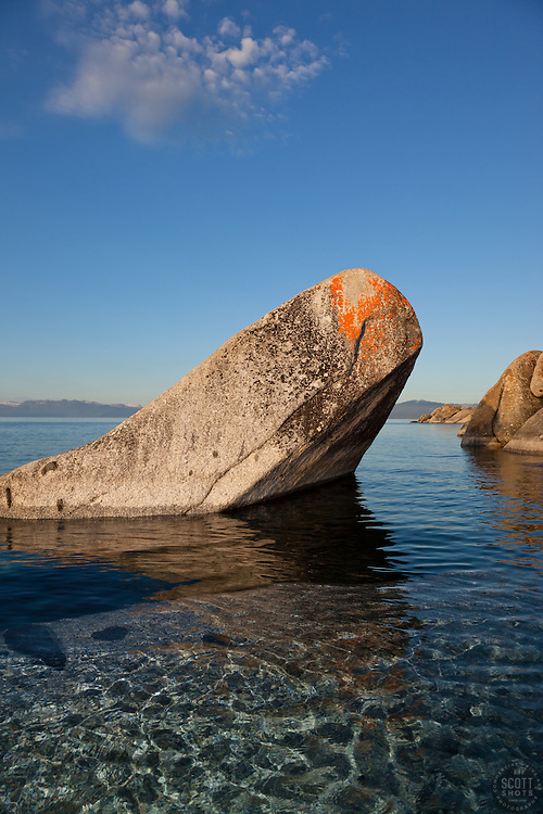 """Boulders on Lake Tahoe 26"" - These boulders were photographed in the early morning near Speedboat Beach, Lake Tahoe."