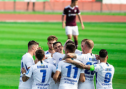 Players of Celje celebrate after scoring first goal during football match between NK Triglav and NK Celje in 7th Round of Prva liga Telekom Slovenije 2019/20, on August 25, 2019 in Sports park, Kranj, Slovenia. Photo by Vid Ponikvar / Sportida