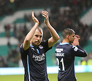 David Clarkson applauds the Dundee support at the end - Celtic v Dundee, SPFL Premiership at Celtic Park<br /> <br />  - &copy; David Young - www.davidyoungphoto.co.uk - email: davidyoungphoto@gmail.com