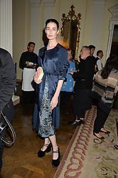ERIN O'CONNOR at a party to kick off London Fashion Week hosted by US Ambassador Matthew Barzun and Mrs Brooke Brown Barzun with Alexandra Shulman in association with J.Crew hrld at Winfield House, Regent's Park, London on 18th September 2015.