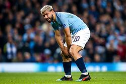 Sergio Aguero of Manchester City cuts a dejected figure - Mandatory by-line: Robbie Stephenson/JMP - 17/04/2019 - FOOTBALL - Etihad Stadium - Manchester, England - Manchester City v Tottenham Hotspur - UEFA Champions League Quarter Final 2nd Leg