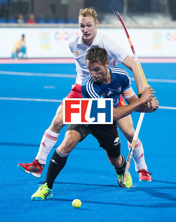 Odisha Men's Hockey World League Final Bhubaneswar 2017<br /> Match id:14<br /> England v Argentina , Quater Final<br /> Foto: Matias Paredes (Arg)  and David Ames (Eng)<br /> WSP COPYRIGHT KOEN SUYK