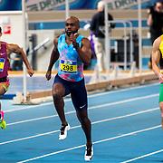NLD/Apeldoorn/20180217 - NK Indoor Athletiek 2018, 60 meter heren, Remly Vry, Churandy Mart en Simon Blokina