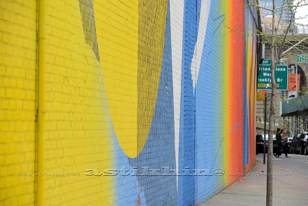 Color wall in New York City.
